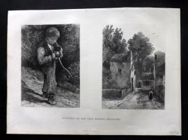 Brandard 1875 Art Journal Print. Etchings by the late Robert Brandard